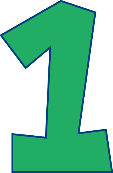 Number 1 clipart green. One clip art at