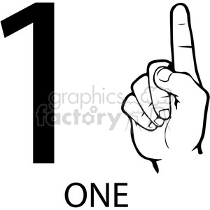 Number 1 clipart hand. Asl sign language illustration