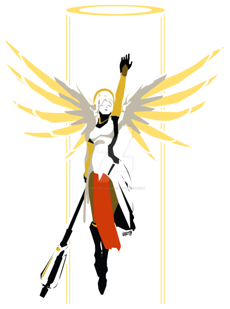Mercy rez by thefluffyguy. Number 1 clipart huge