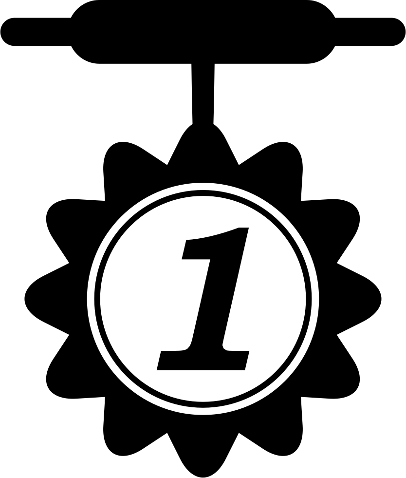 For svg png icon. Number 1 clipart medal