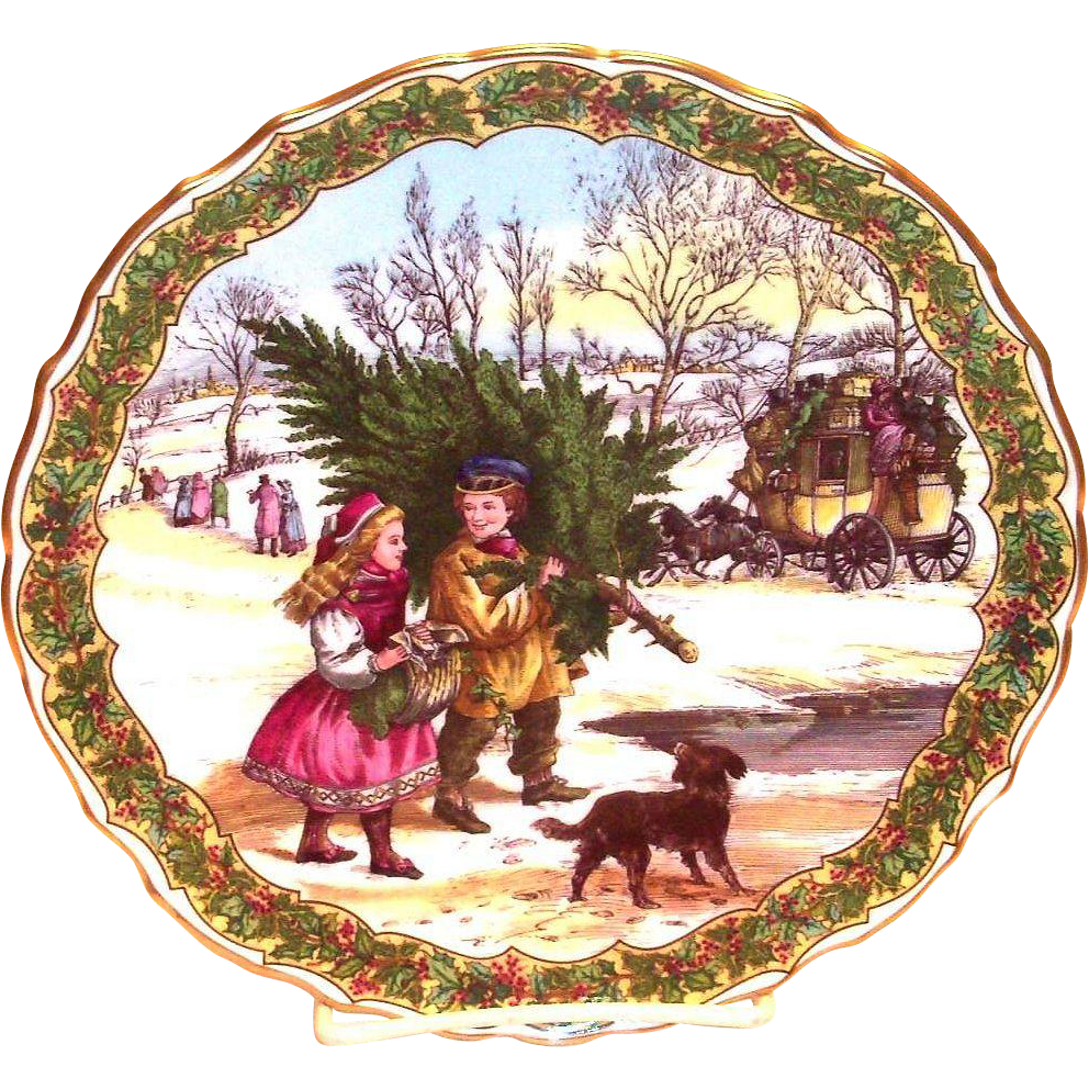 Victorian christmas tableware spode. Number 1 clipart no1