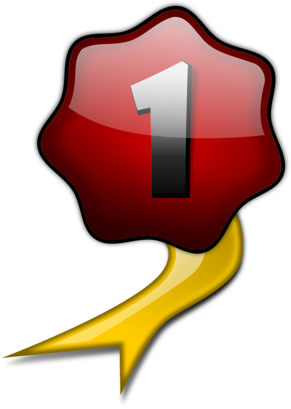 Number 1 clipart no1. Glossy no ribbon medium