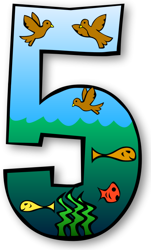 Number clipart clip art. Sea creatures at getdrawings