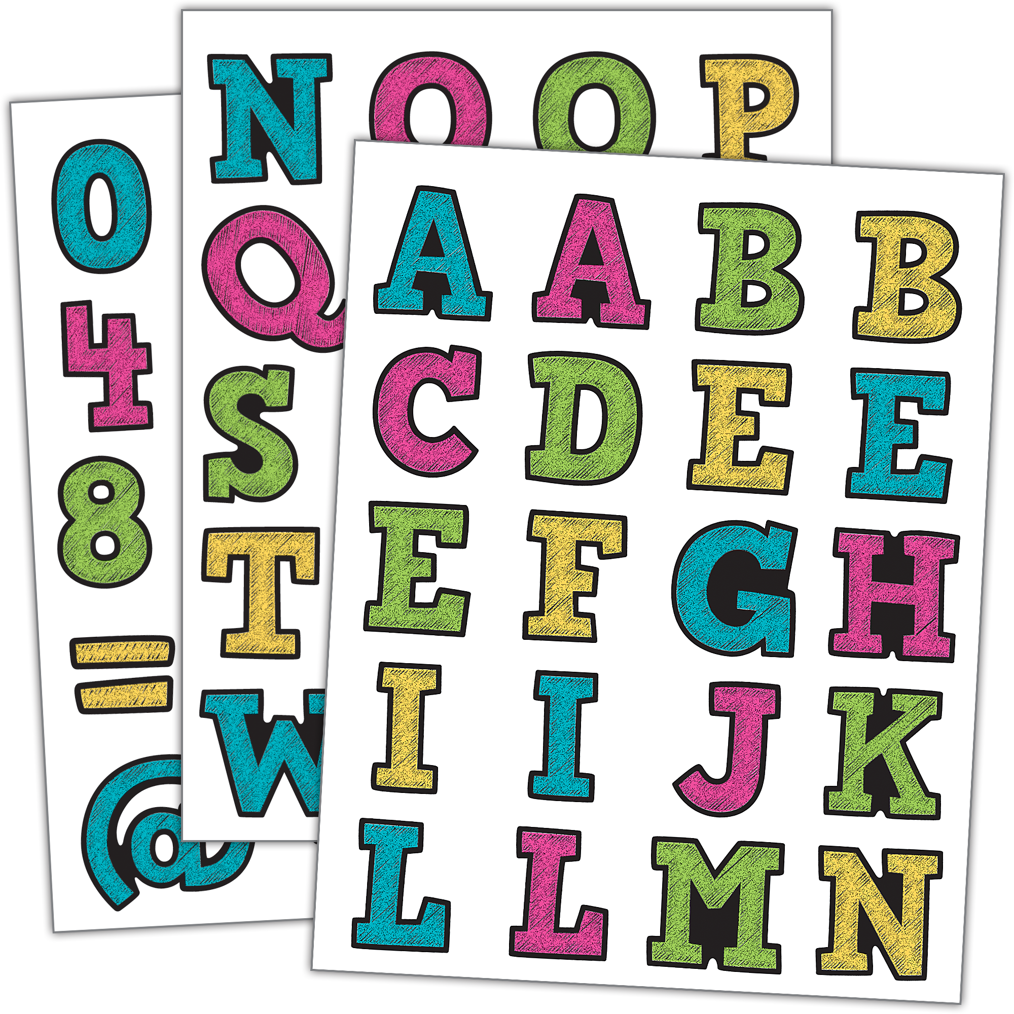 Number 1 clipart number 120. Chalkboard brights alphabet stickers