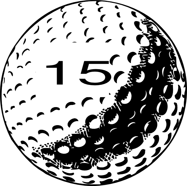 Golf ball clip art. Number 1 clipart number 15