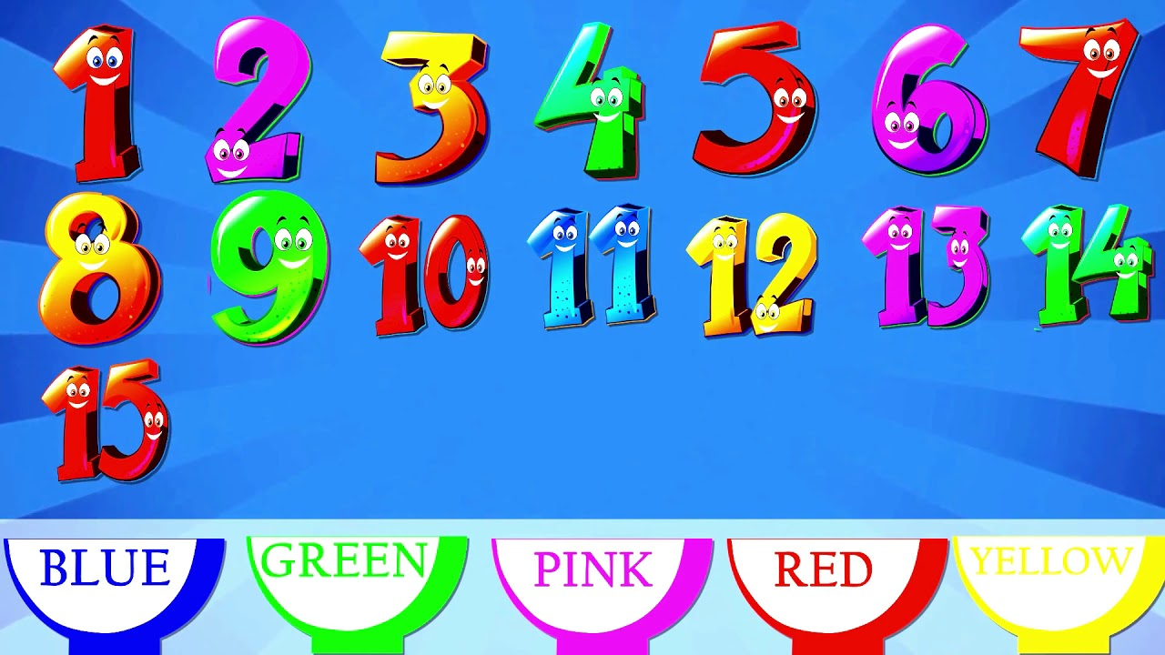 Learn numbers and match. Number 1 clipart number 15