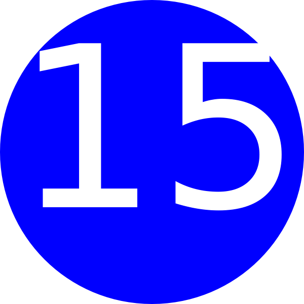 number 1 clipart number 15
