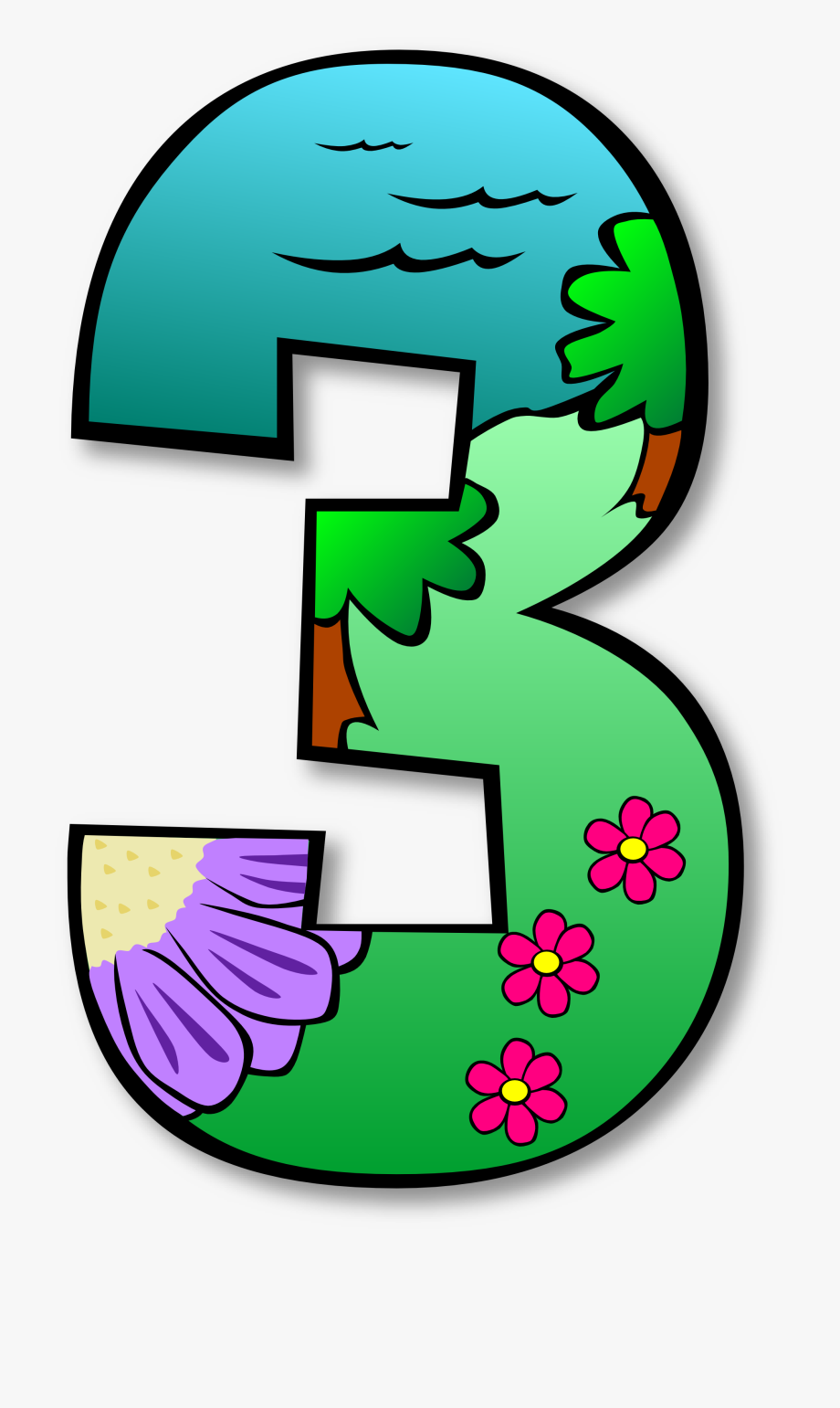 Christmas numbers free images. Number 1 clipart numbes