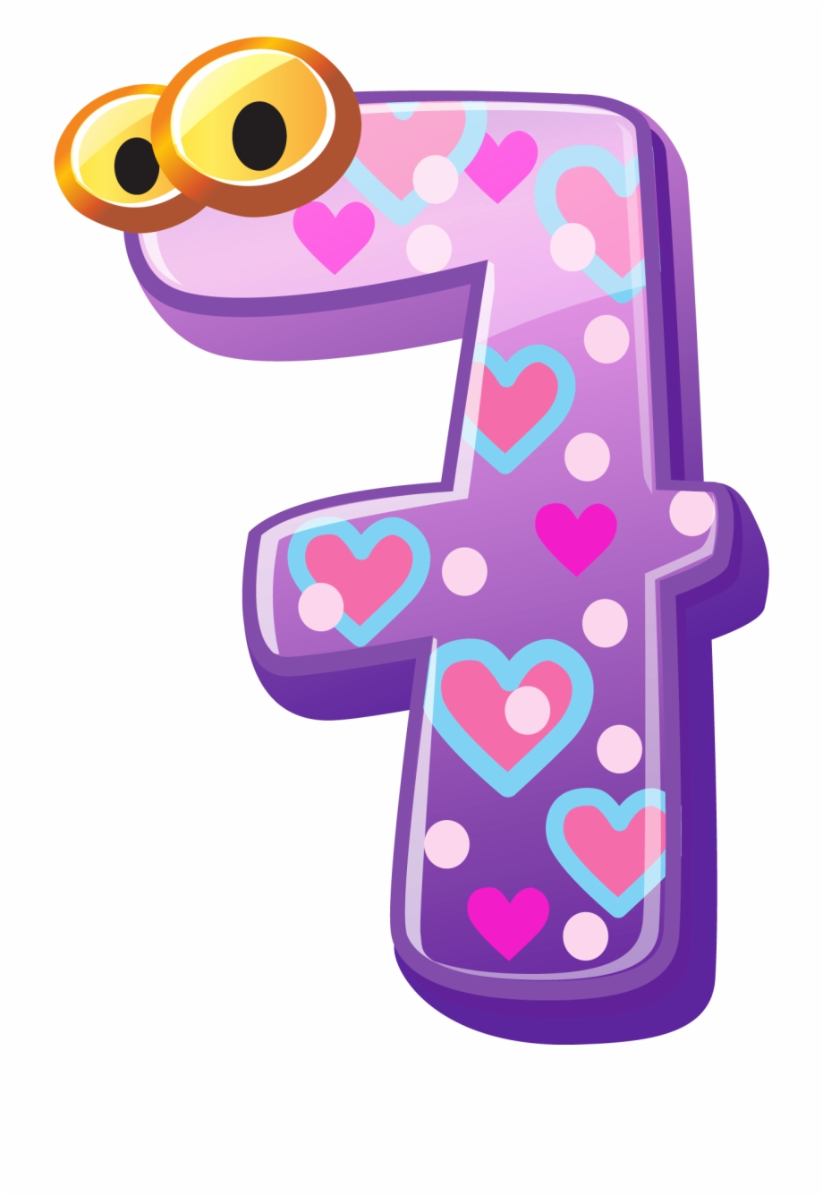 Number 1 clipart numbes. Numbers cute seven image