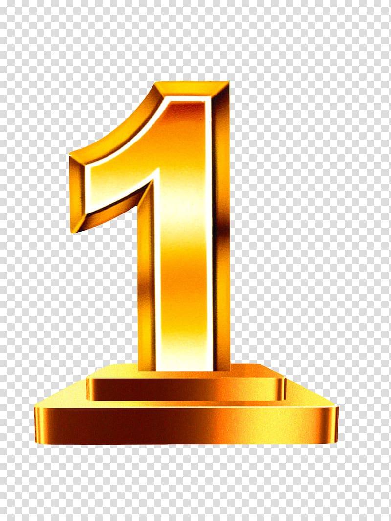 Number 1 clipart numerical number. Gold digit transparent