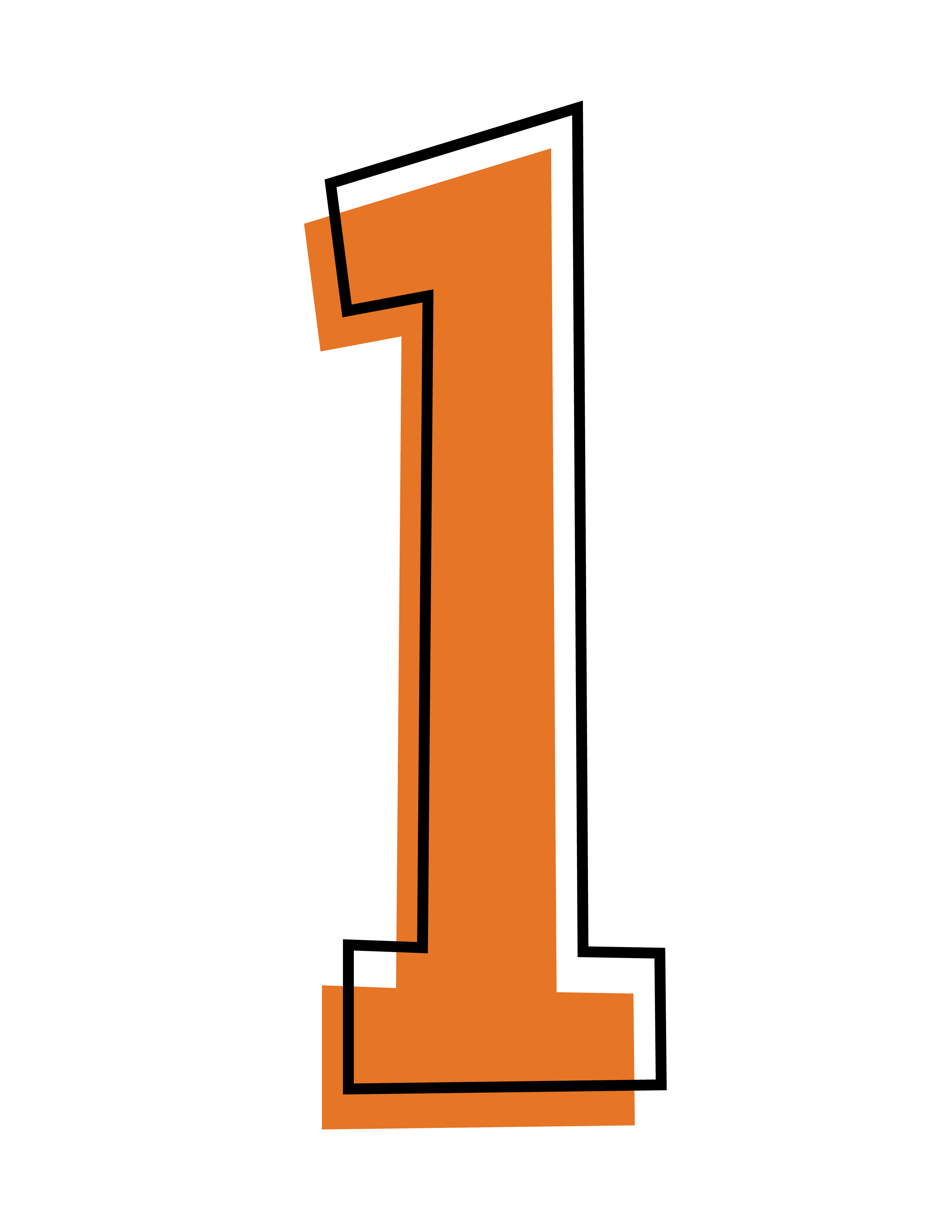 Number 1 clipart orange.  collection of transparent