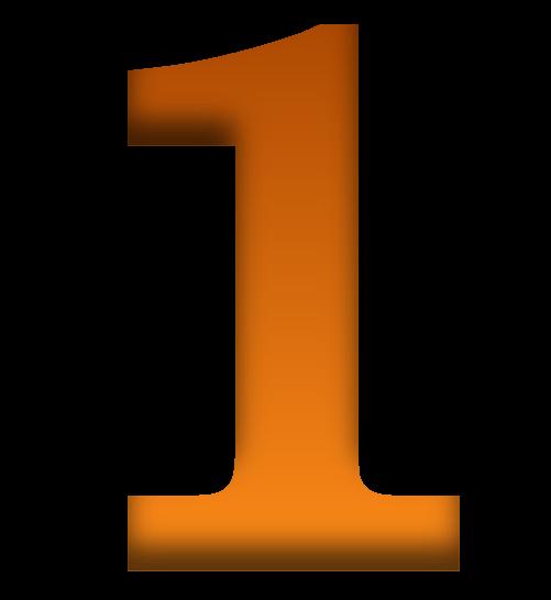 Number 1 clipart orange.  png transparent images