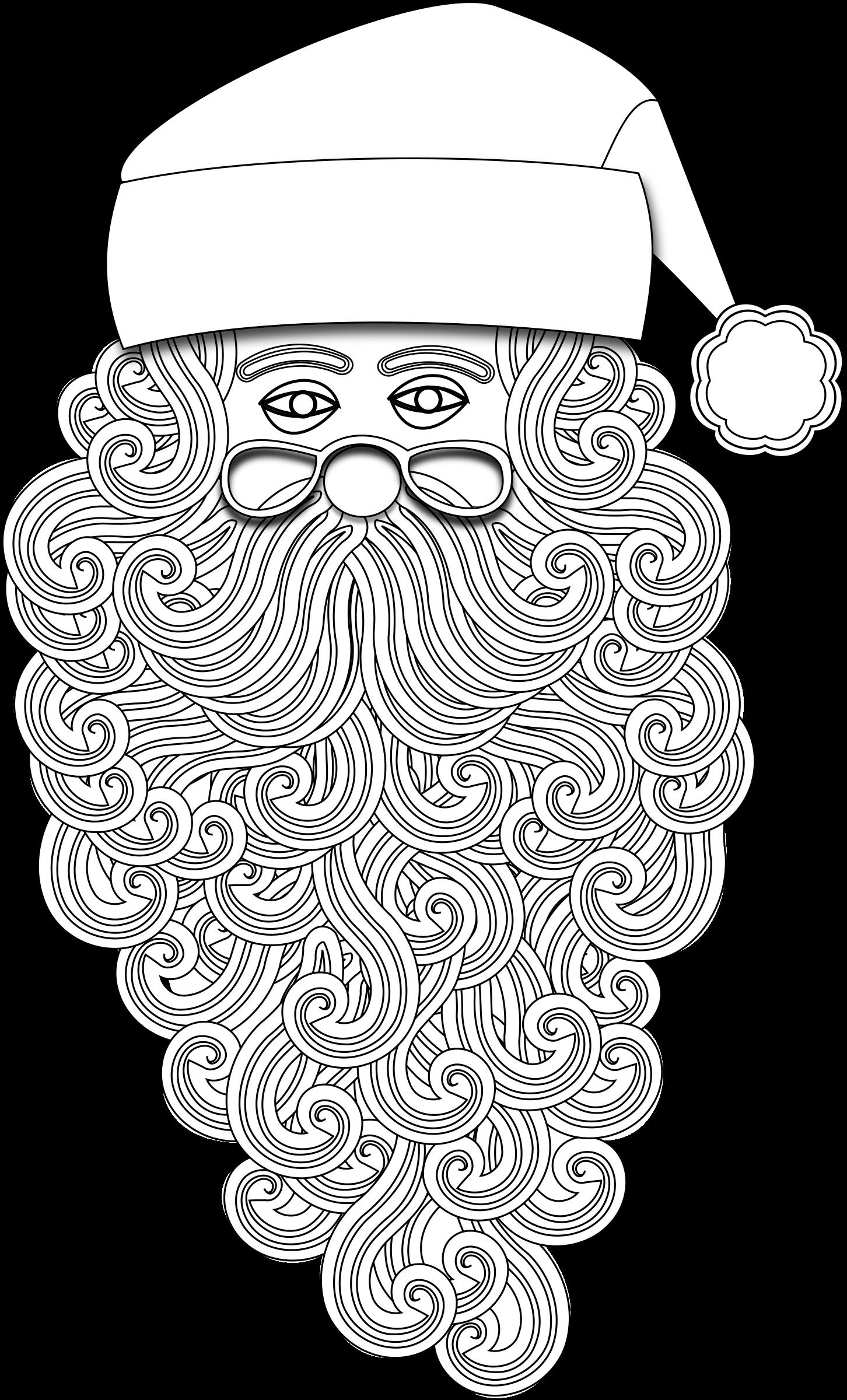 Number 1 clipart outline. Santa big image png