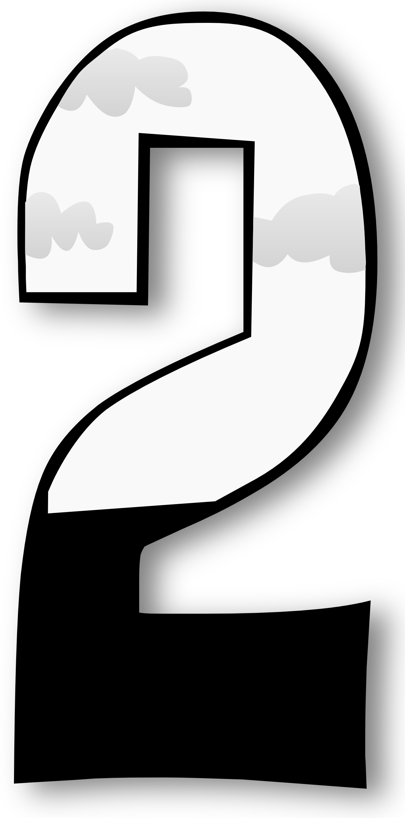 collection of black. Number 1 clipart outline