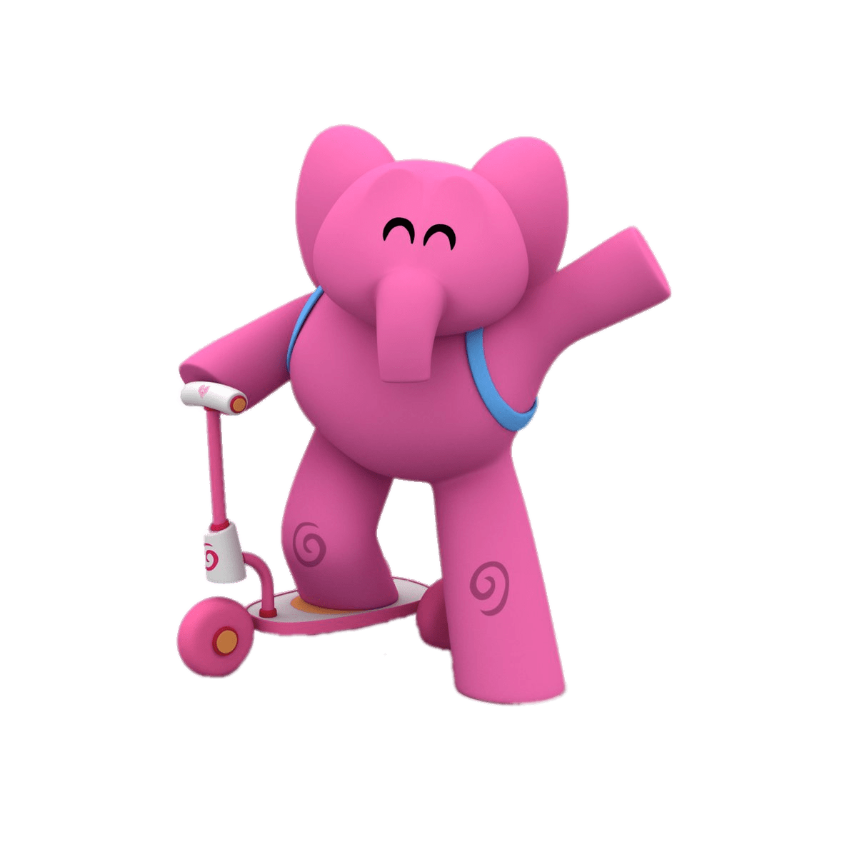 Pocoyo transparent png images. Scooter clipart pink scooter