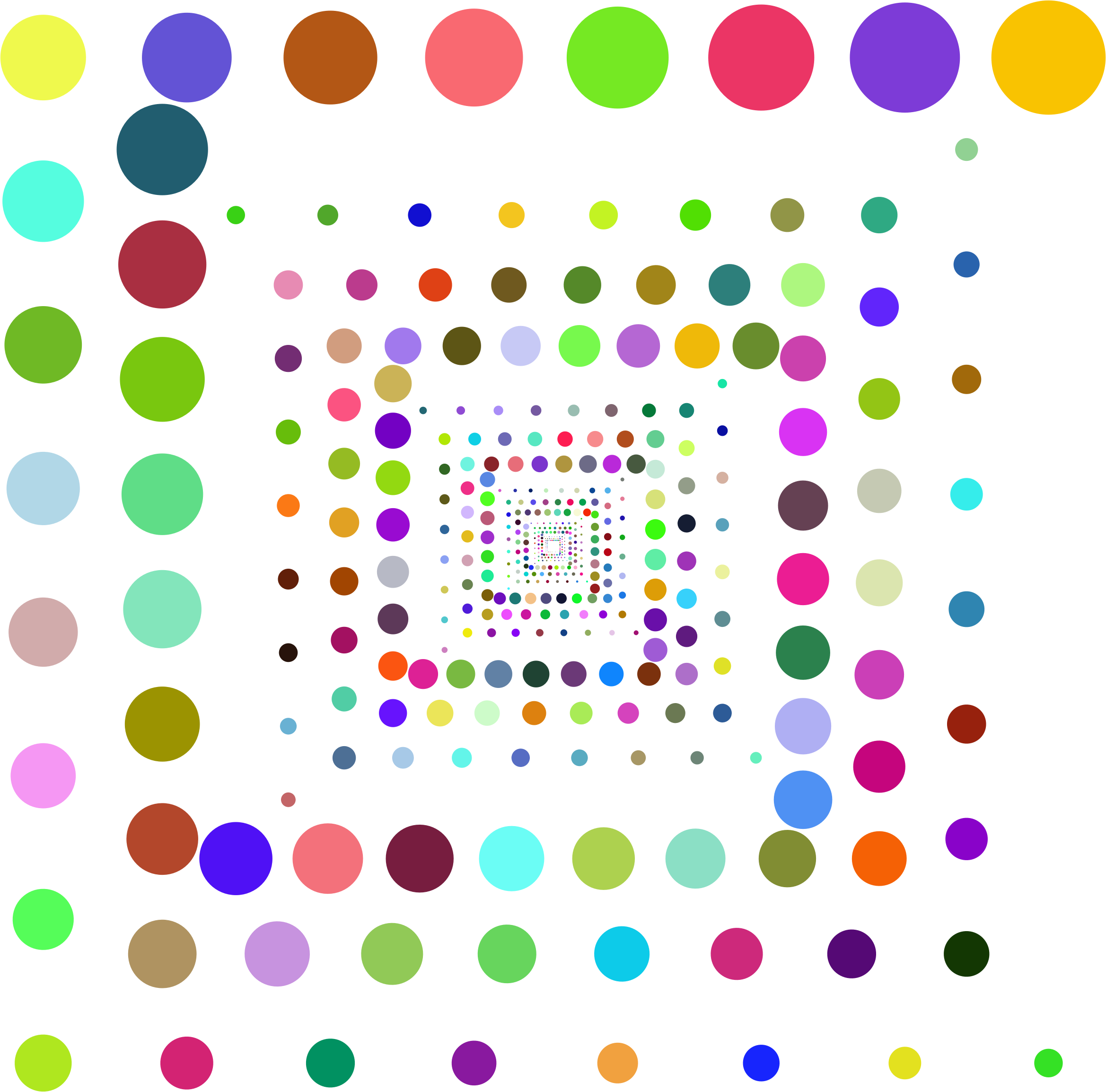Prismatic hypnotic circles vortex. Number 1 clipart polka dot