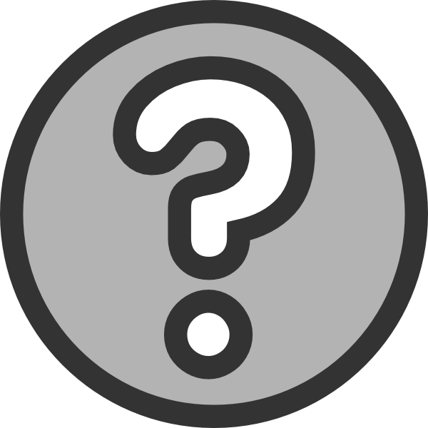 Number 1 clipart question. Mark clip art at
