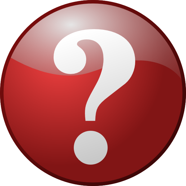 Red unknown clip art. Number 1 clipart question