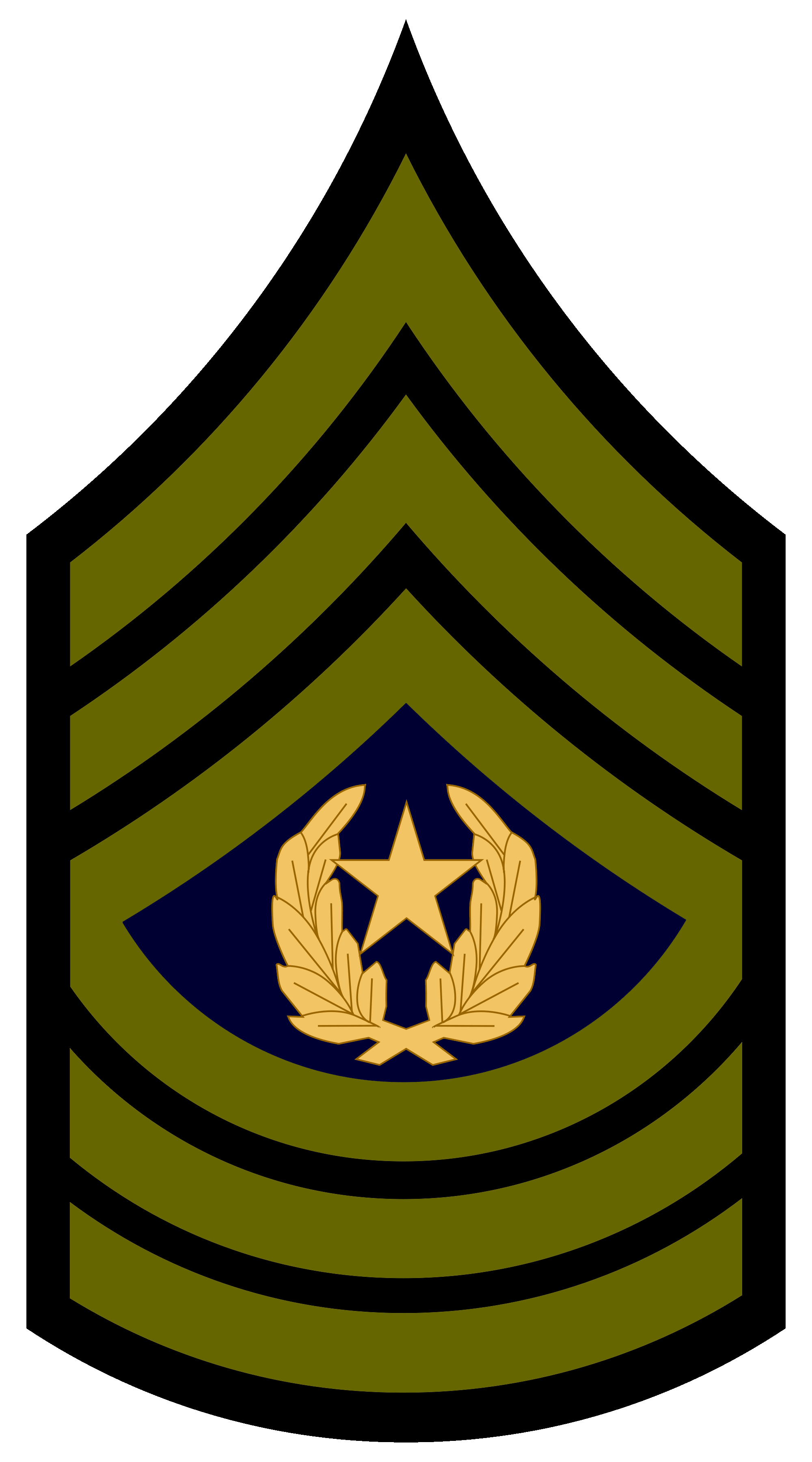 Army csm png transparent. Number 1 clipart rank