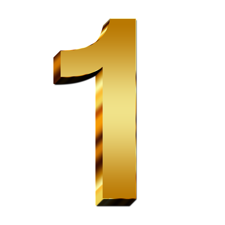 to numbers png. One clipart top 1