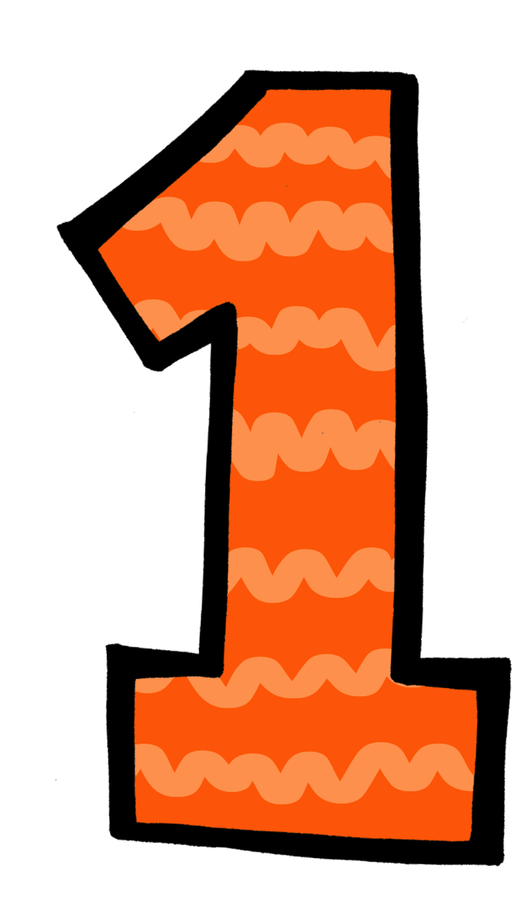 collection of transparent. Number 1 clipart single number