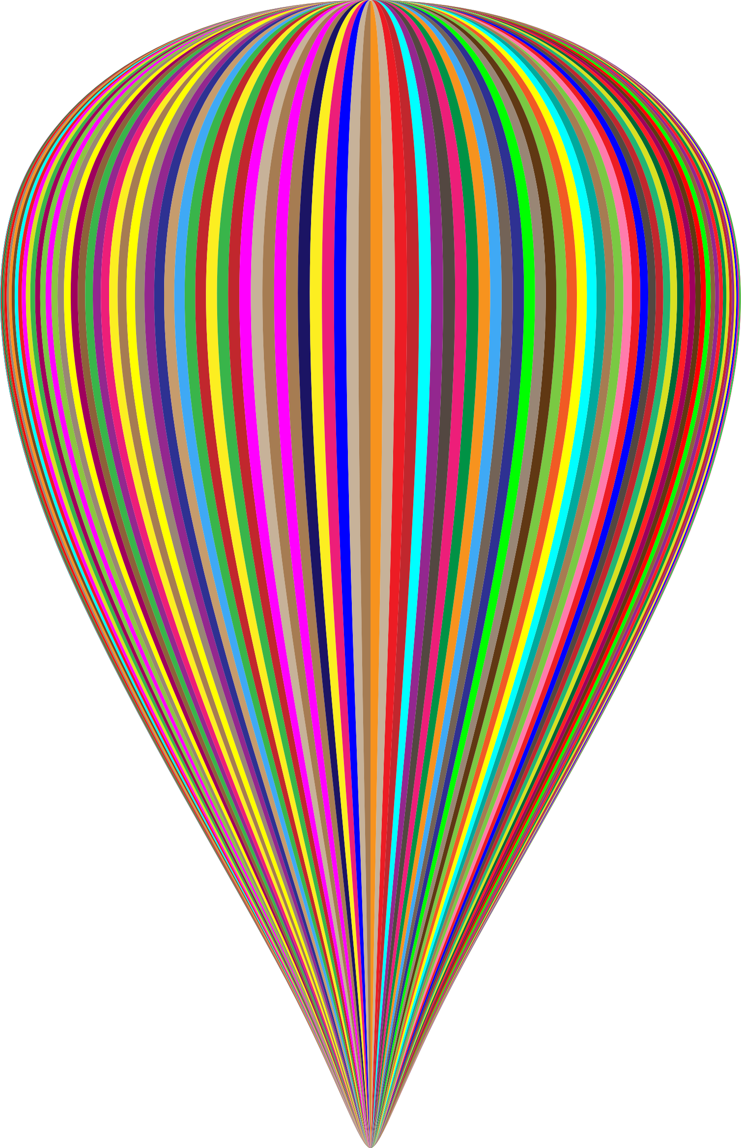 Colorful balloon big image. Number 1 clipart striped