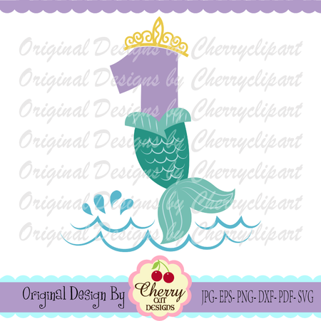 Number 1 clipart svg. Mermaid tail birthday silhouette