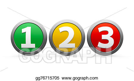 Stock illustration icons numbers. Number 1 clipart three