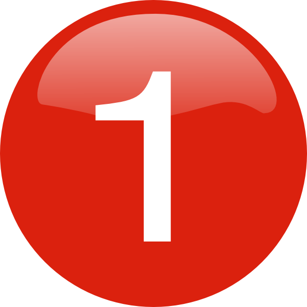 Number 1 clipart top 1.  icon web icons