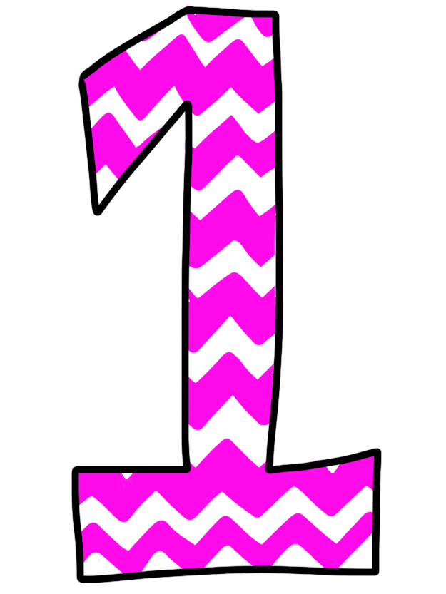 Free pink chevron cliparts. Number 1 clipart transparent background