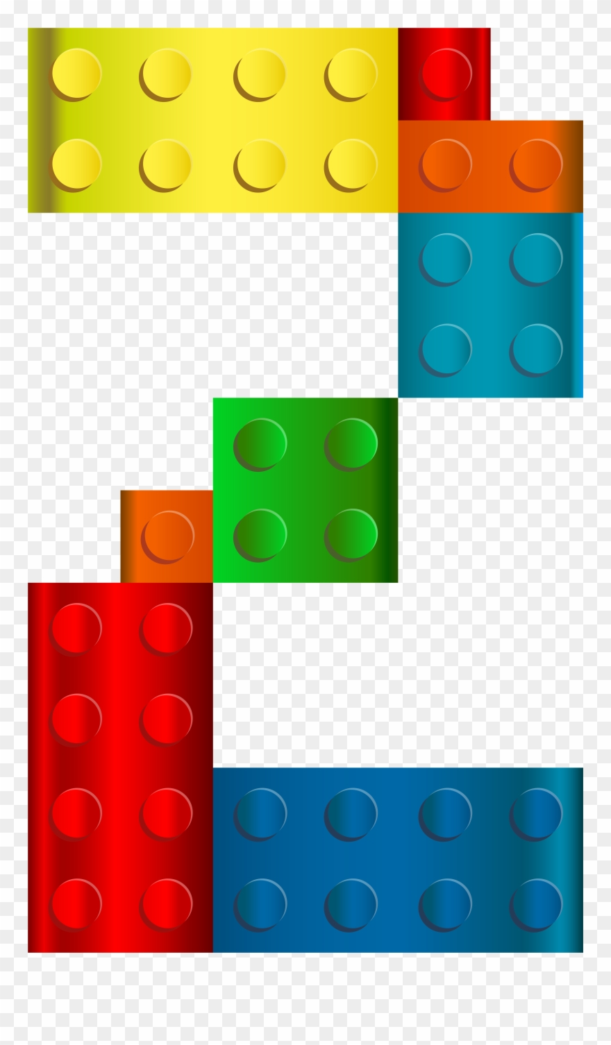 Lego png transparent clip. Number 1 clipart two