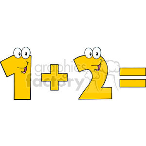 Number 1 clipart two.  illustration of plus