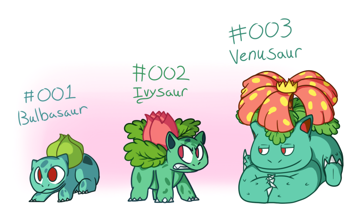Number 1 clipart week 1. Pokevo challenge bulbasaur line