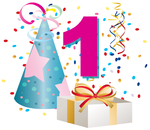 Free birthday clip art. Number 1 clipart year old