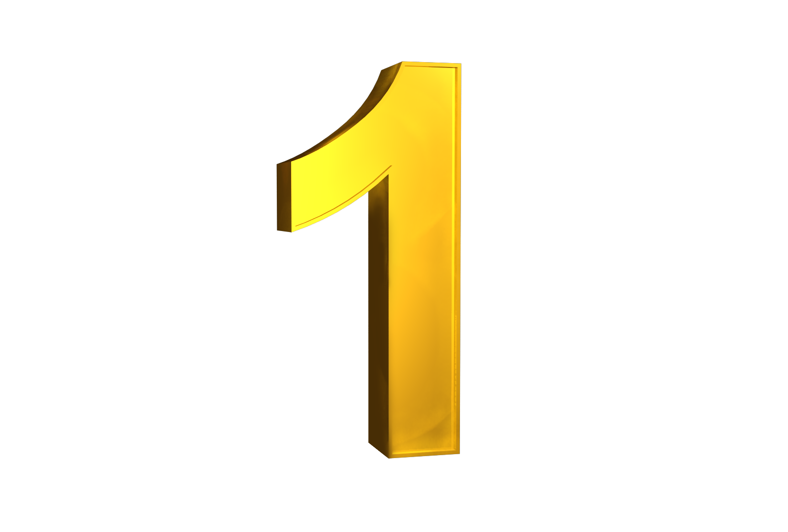 Number 1 clipart yellow. Png free download