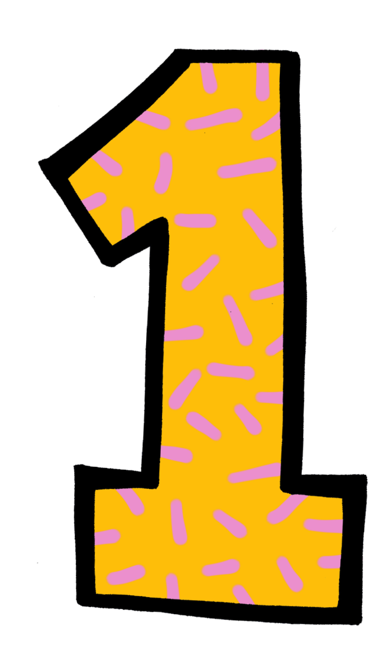 . Number 1 clipart yellow