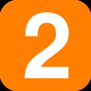 Blue number clip art. 2 clipart