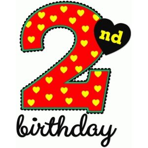 Number 2 clipart 2nd birthday boy.  nd nested silhouettes