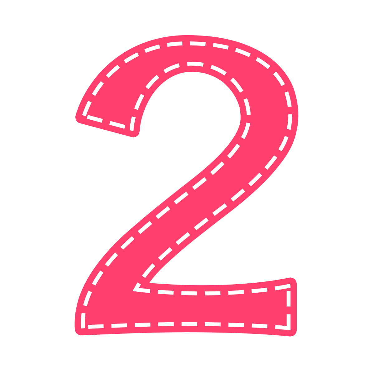 glitter pencil and. Number 2 clipart 2png