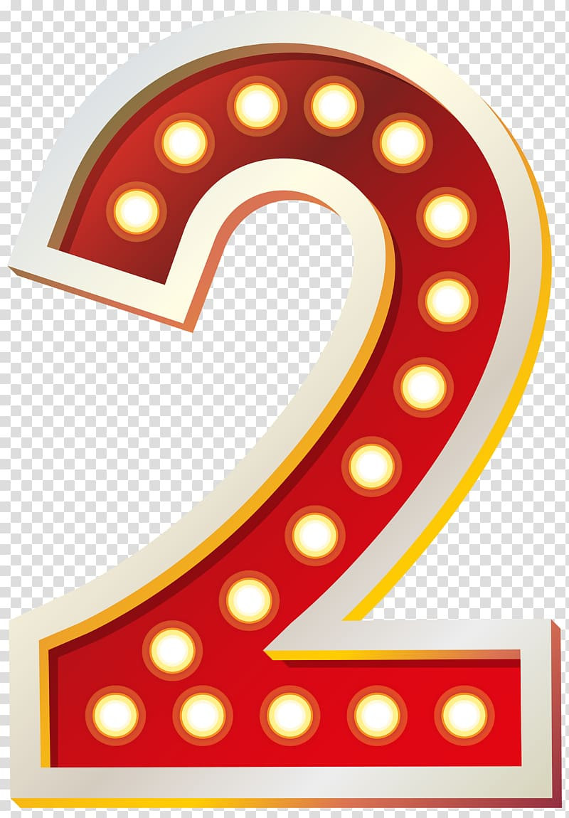 Red and white two. Number 2 clipart 2png