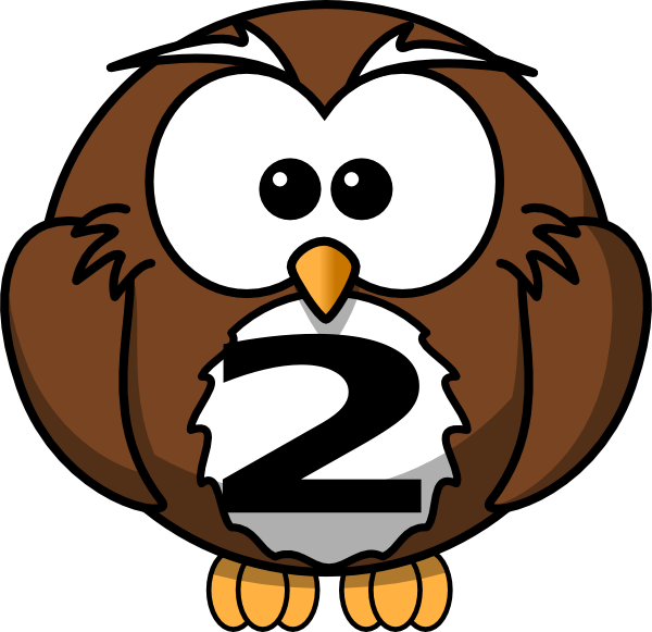 Number 2 clipart 2png. Owl clip art at