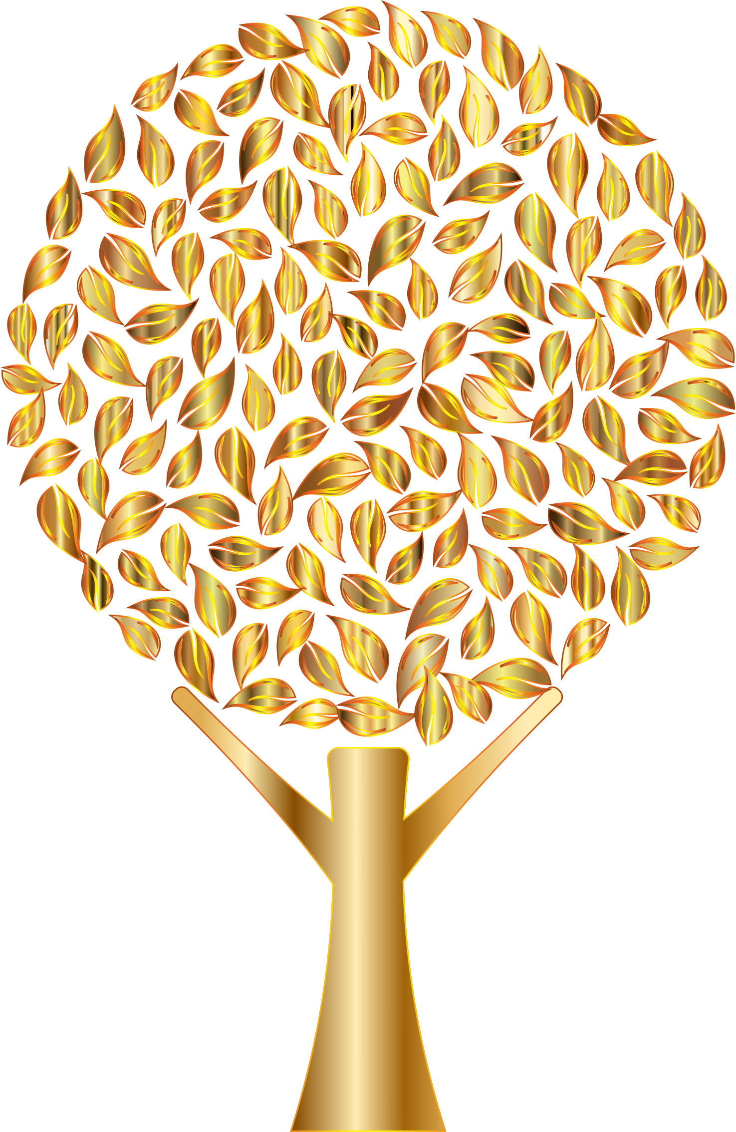 Number 2 clipart abstract. Prismatic tree variation no