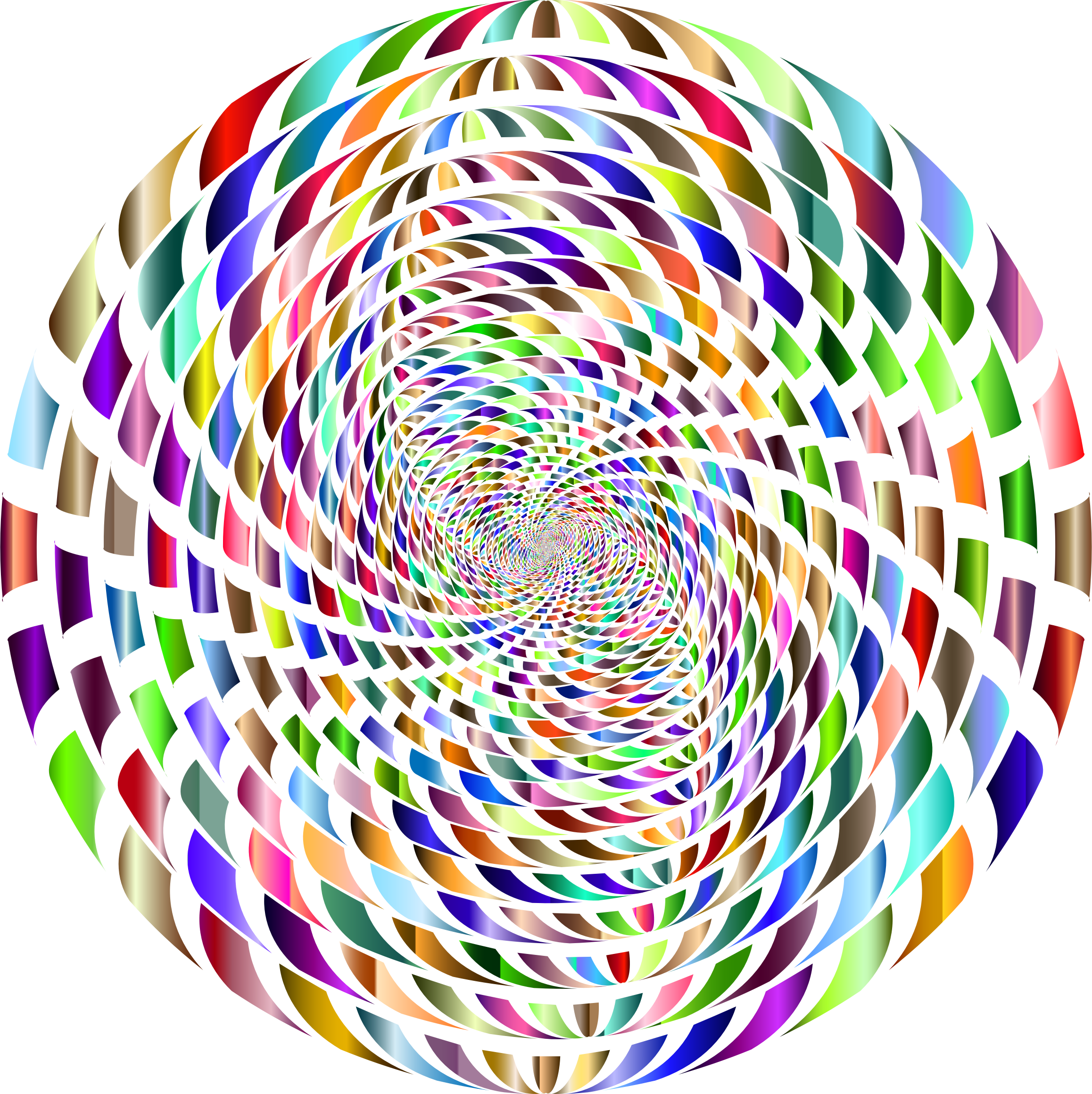 Vortex variation prismatic no. Number 2 clipart abstract