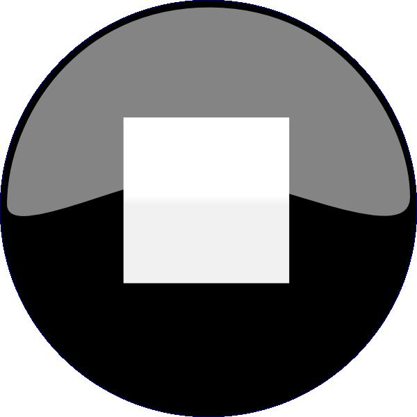 Stop black clip art. Number 2 clipart button