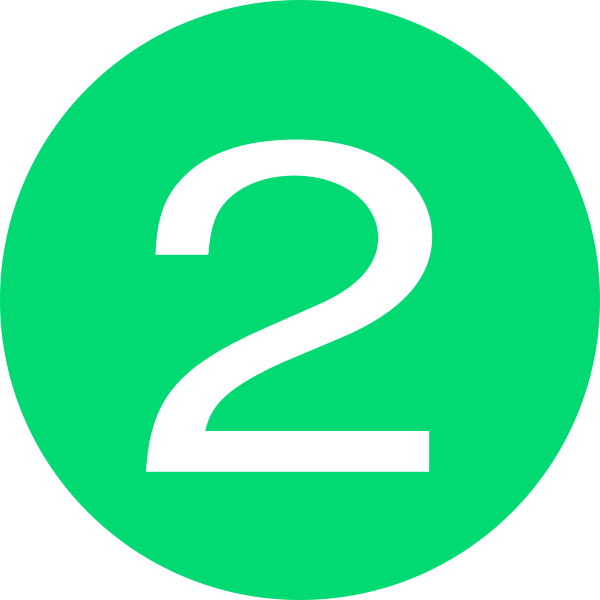 Green clip art at. Number 2 clipart button