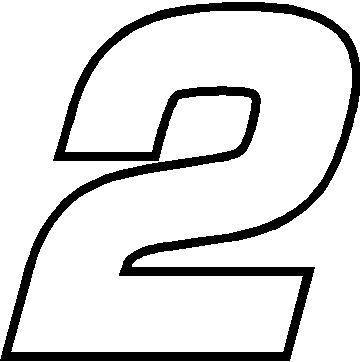 Nascar decals race euromode. Number 2 clipart different font