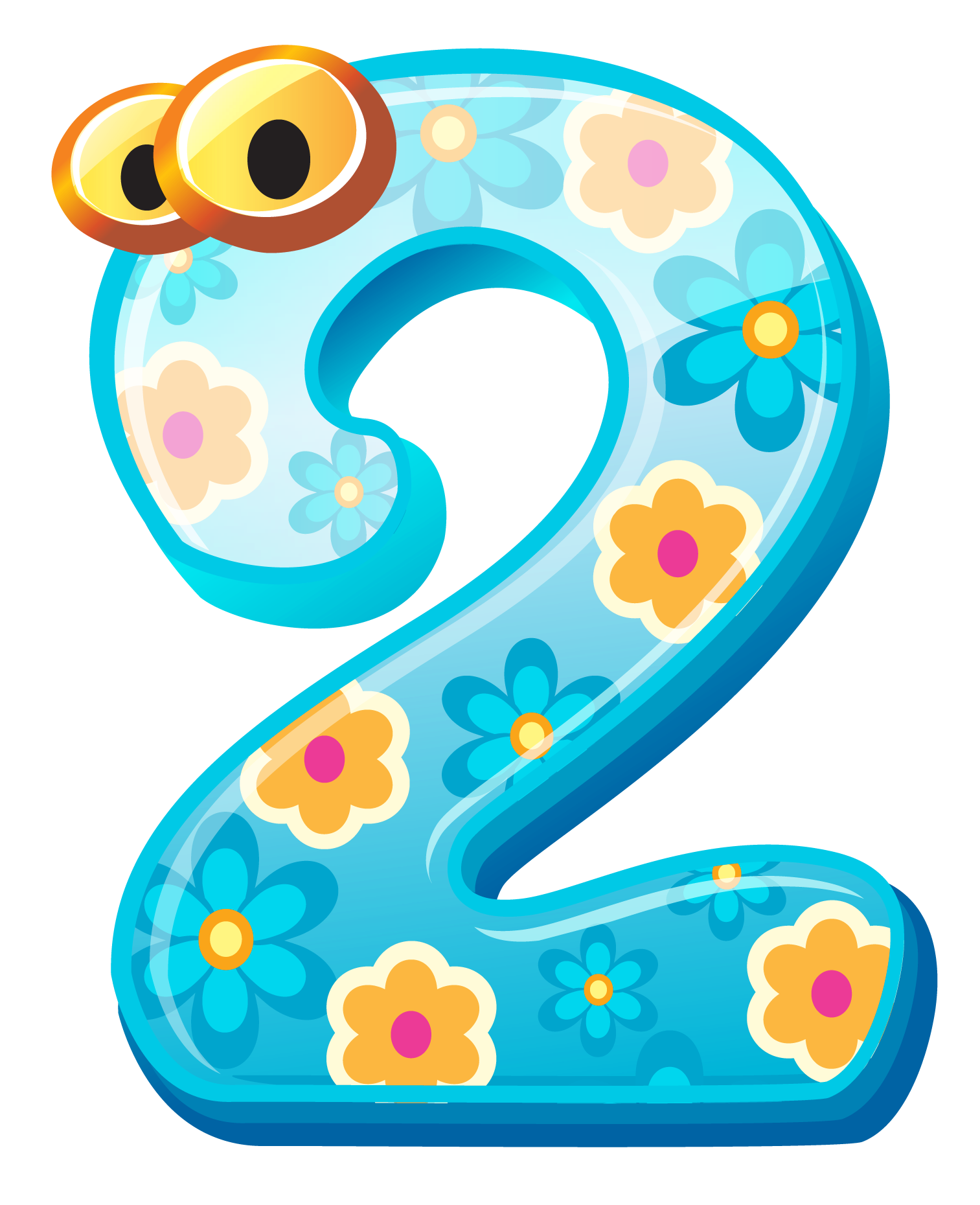 number 2 clipart even number