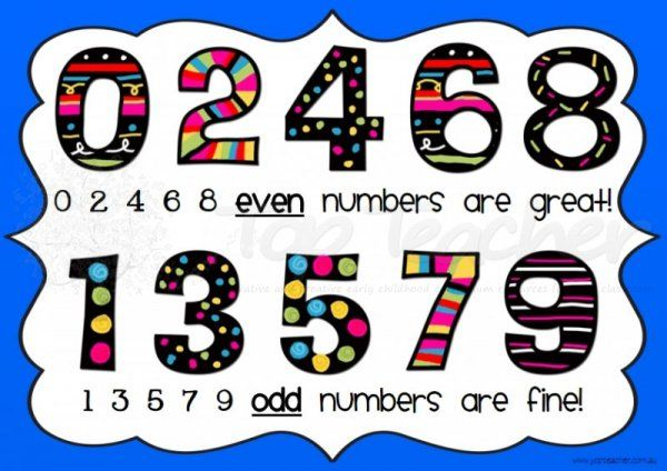 Odd rhyme poster classroom. Number 2 clipart even number