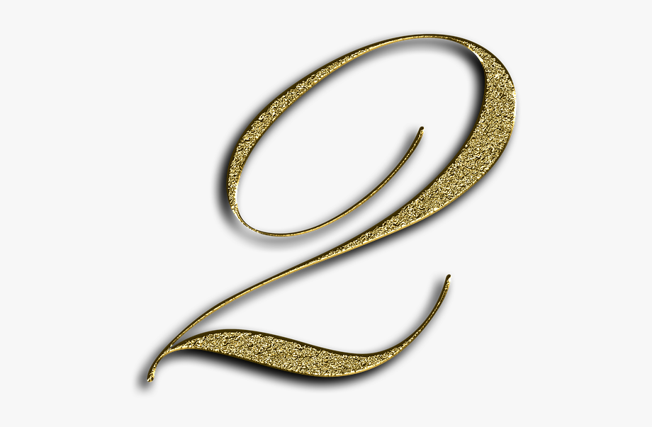 Number 2 clipart glittery. Gold font training two