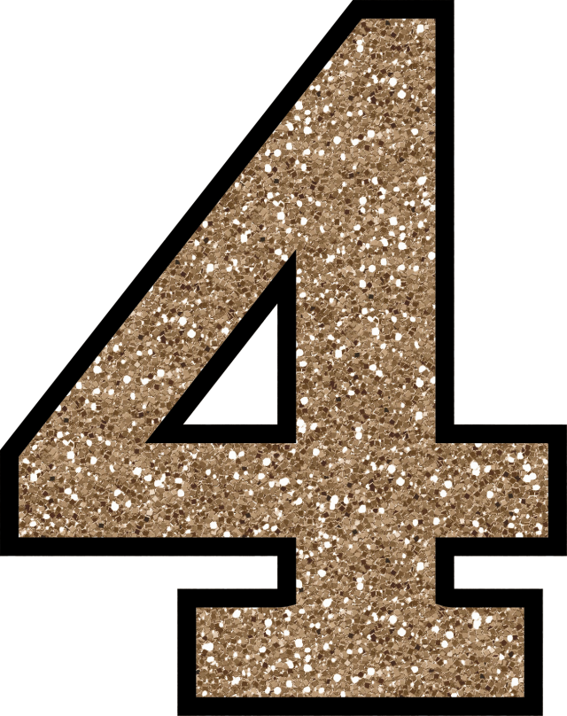 Glitter without the mess. Number 2 clipart glittery